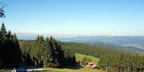 Aussicht nach Norden beim Pröller-Abstieg nach Hinterwies
