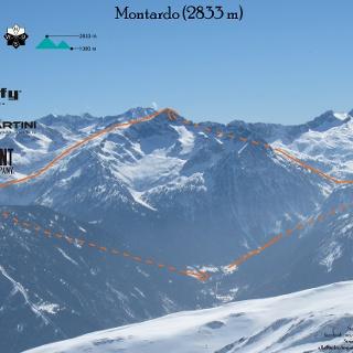 Montardo Skitour Übersichtsbild - Topo