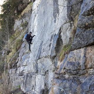 Klettern am Wälder-Klettersteig