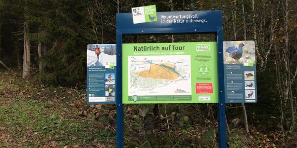Der erste Teil der Tour kann auch im Winter mit Schneeschuhen begangen werden