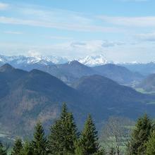 Ausblick von der Lengrieser Hütte zur Zugspitze