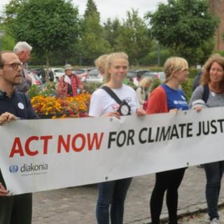 Klimatvandring 2015 vid klosterkyrkan i Lund
