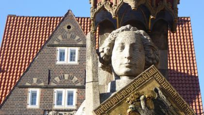 Der Roland, das Wahrzeichen der Stadt Bremen