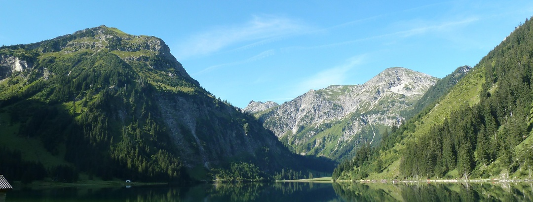 The Vilsalpsee in the Tannheimer Tal