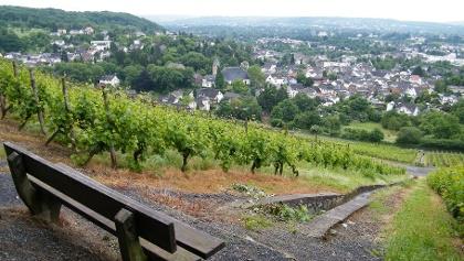 Rastbank mit Blick auf Oberdollendorf.