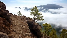 Der Blick auf den Cumbre vieja.