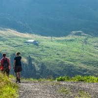 Blick auf das Alpgebiet der Breitenalpe