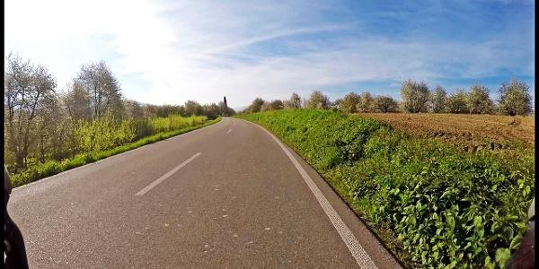 Straße in Richtung Oberkirch