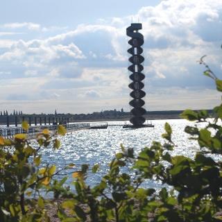 Pegelturm mit Seebrücke