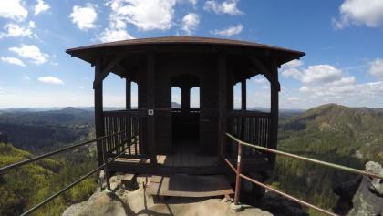 Der Aussichtspunkt auf dem Marienfelsen (Mariina skála)