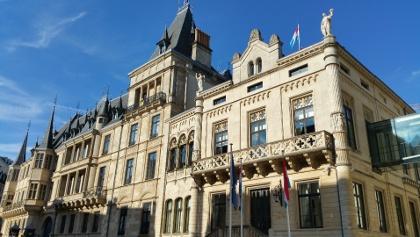 Der Großherzogliche Palast in der Luxemburger Altstadt