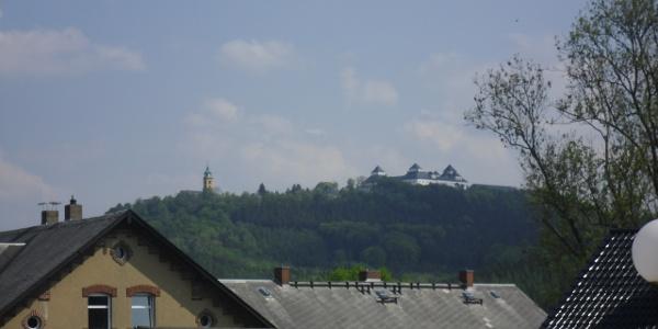 Blick von Erdmannsdorf zur Augustusburg