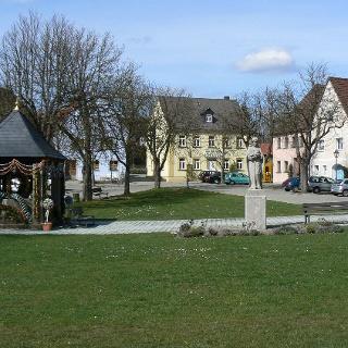 Der Marienplatz in Hollfeld