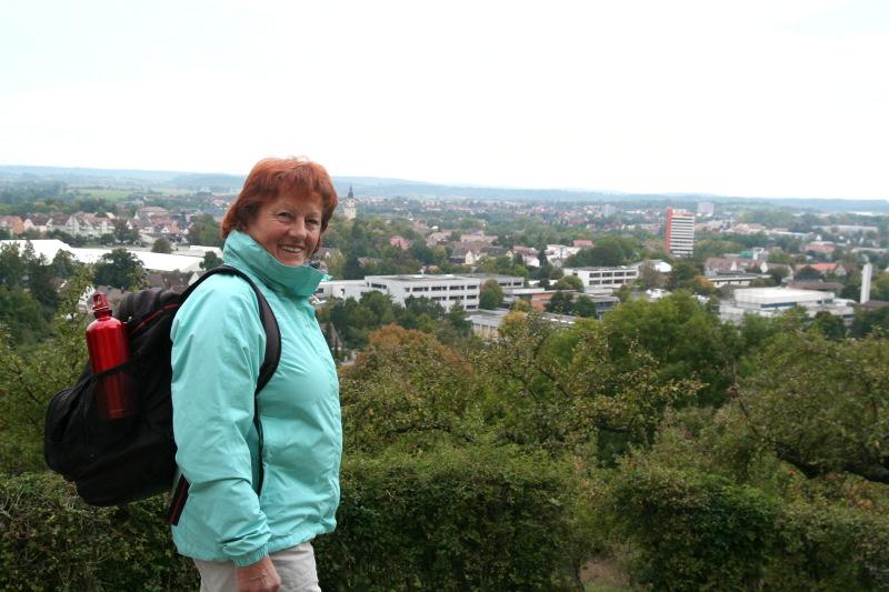 Lore Wieland auf IHRER Tour...   - @ Autor: Beate Philipp  - © Quelle: Hohenlohe + Schwäbisch Hall Tourismus e.V.