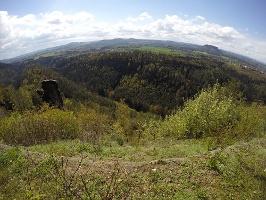 """Foto Panorama von der Brandaussicht - links der Felsen """"Brandscheibe"""""""
