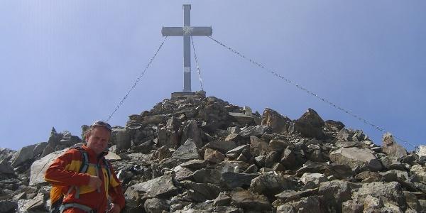 Gipfelglück am Roten Knopf