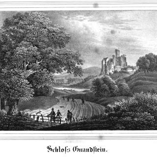 Historische Ansichtskarte - Burg Gnandstein