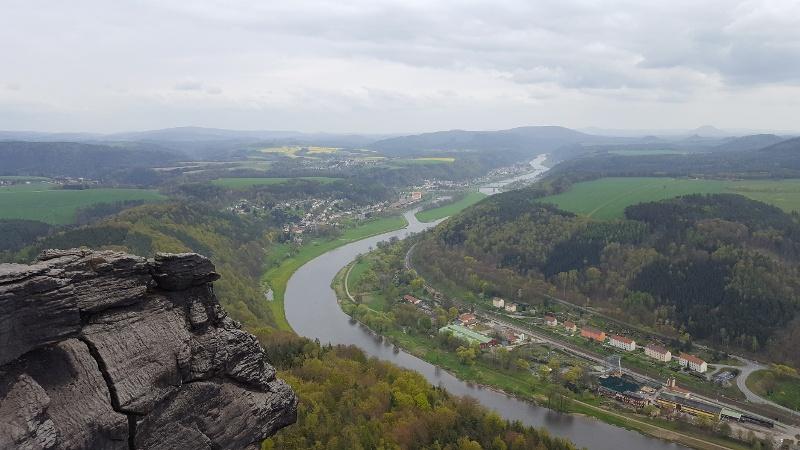 Foto Ausblick vom Lilienstein