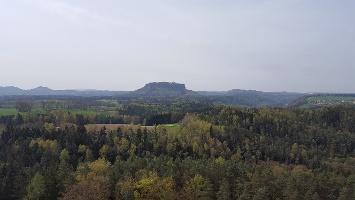 Foto Blick vom Gamrig zum Lilienstein