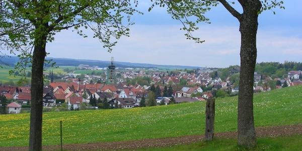 Blick auf Neresheim.