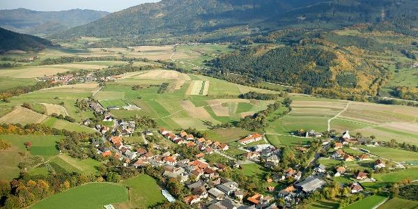 Luftaufnahme der Marktgemeinde Raxendorf