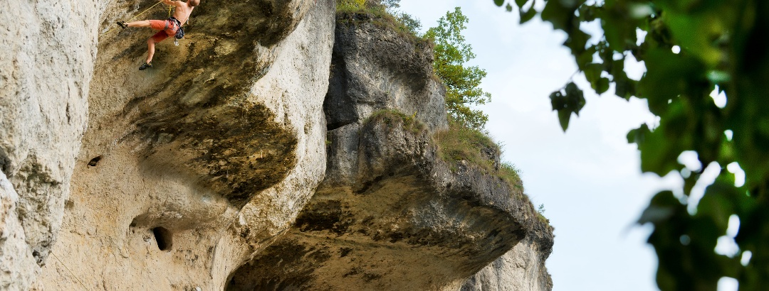 Die Fränkische Schweiz ist bei Kletterern beliebt