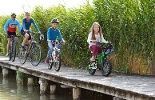 Lake Neusiedl cycle trail - On the way in a national park