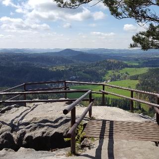 Aussichtspunkt Wilhelminenwand (Vilemínina stěna)