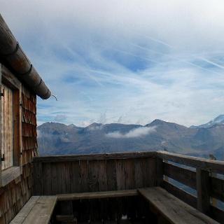 Terasse Schwarzenberghütte