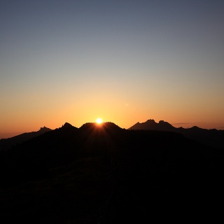 Sonnenuntergang am Gründegg