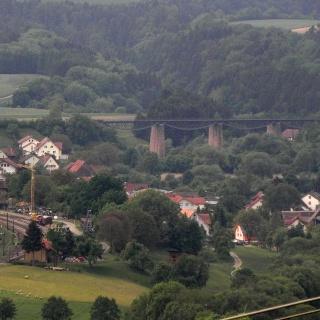 Vier-Bahnen-Blick: Talübergang Fützen in 3,5 km Entfernung