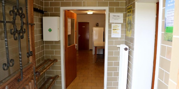 Eingangsbereich mit Schuhregal