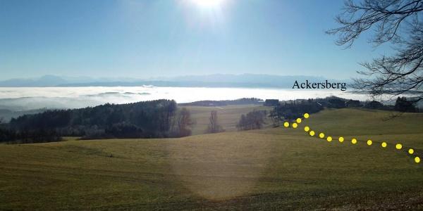 Der Anstiegsweg von Ackersberg