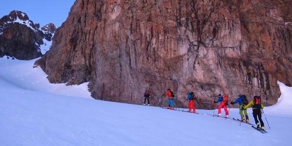 Perfektes Skitourengelände, großartige Szenerie.