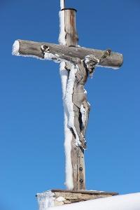 Das geschnitzte Gipfelkreuz © Tourismusverband Tannheimer Tal