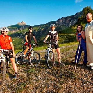 Mountainbiker auf der Alpe