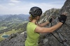 Richtiger Umgang mit dem Klettersteigset  - @ Autor: TVB Tannheimer Tal  - © Quelle: Tourismusverband Tannheimer Tal