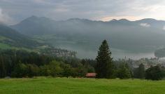 Blick vom Schliersberg auf den Schliersee.