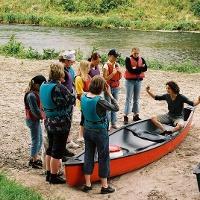 Einweisung der Gruppe - Rio Negro Kanutouren