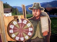 Auswahlrad beim Schmugglersteig © Tourismusverband Tannheimer Tal