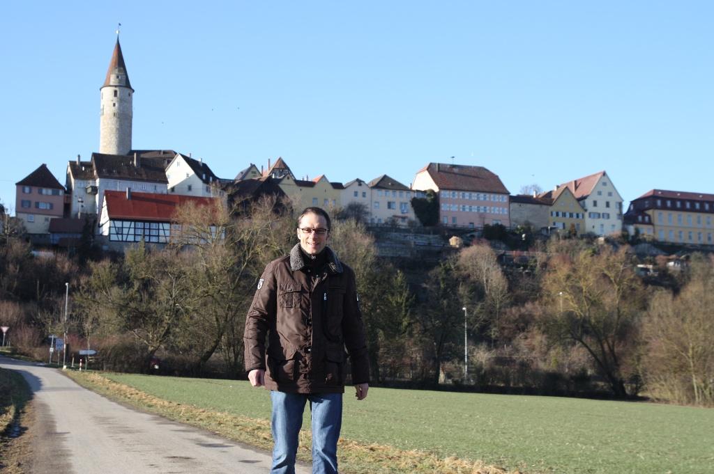 Bürgermeister Stefan Ohr auf Abenteuer-Tour..   - © Quelle: Hohenlohe + Schwäbisch Hall Tourismus e.V.