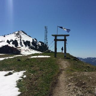 Kurz vor der Grüntenhütte - Projekt Türe im Alpenraum