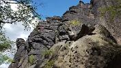 Foto Die zahlreichen Felsen am Pfaffenstein sind auch bei Kletterern sehr beliebt