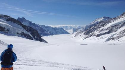 Blick vom Jungfraujoch zum Konkordiaplatz