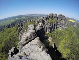 Foto Der Ausblick von der Schrammsteinaussicht