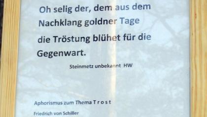 Beschreibung zum Schillerstein