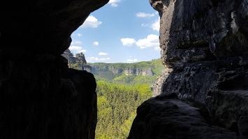 Foto Ausblick beim Aufstieg zum Hinteren Raubschloss