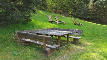 Foto Idealer Pausenplatz oberhalb des Nationalpark-Informationshauses