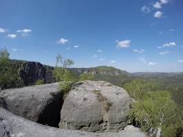 Foto Auf dem Aussichtsplateau des Hinteren Raubschlosses