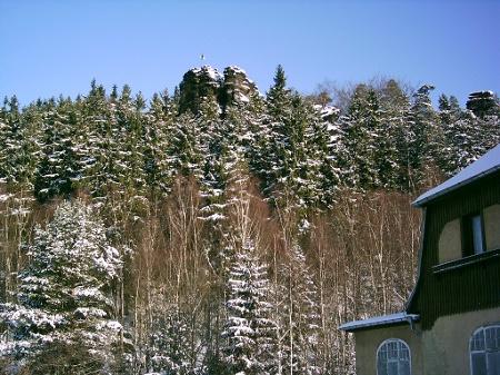 Foto Blick von derOttomühle auf den Daxenstein.